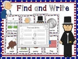 Presidents' Day Kindergarten Activity for Writing and Vocabulary