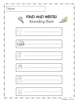 Find and Write! (Reading and Handwriting)