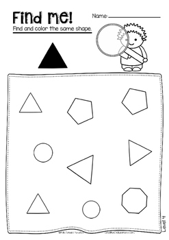 Find and color shapes - Visual perceptual skills - Occupational Therapy
