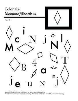 Find and color the diamond/rhombus lv 1
