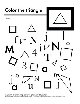 Find and color the triangle lv 2