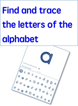 Find and identify the letters of the alphabet