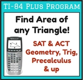 Find area of any triangle - TI-84 Plus program