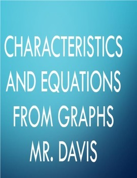 Find characteristics and equation from graph