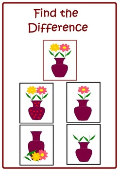 Find the Difference. Expressive Language Activities.