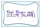 Find, draw and color shapes