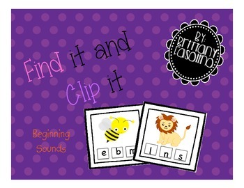 Find it Clip it Beginning Sounds