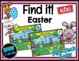 Find it! Easter Theme Boom Cards w/ AUDIO - Distance Learning