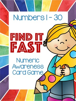 Find it Fast!  (1 – 30 Number and Number Word Practice)
