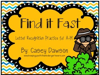 Find it Fast! (Letter Recognition Practice for A-M)