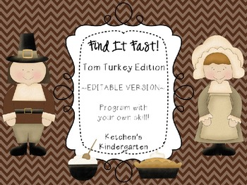 Find it Fast: November Themed {Customizeable Product}
