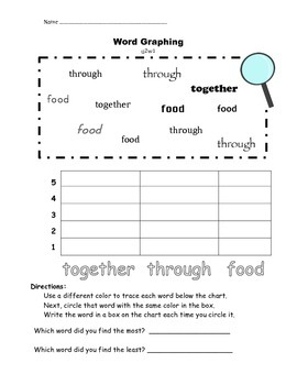Find it! Graph it!  Word Wall Words Unit 2