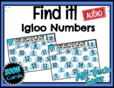 Find it! Igloo Numbers to 20 Boom Cards w/ AUDIO - Distanc