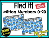 Find it! Mitten Numbers to 20 Boom Cards w/ AUDIO - Distan