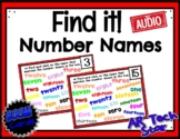 Find it! Number Names (Word Form) up to 20 Boom Cards w/ AUDIO