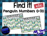 Find it! Penguin Numbers to 20 Boom Cards w/ AUDIO  #time4