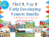 Find it, Say it Early Developing Sounds Bundle