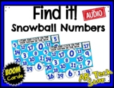 Find it! Snowball Numbers to 20 w/ AUDIO