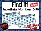 Find it! Snowflake Numbers to 20 Boom Cards w/ AUDIO - Dis