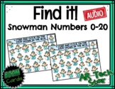 Find it! Snowman Numbers to 20 Boom Cards w/ AUDIO - Dista