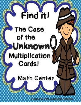 Find it! The Case of the Unknown Multiplication Cards