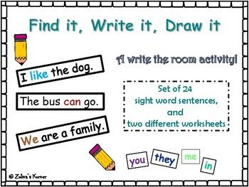 Sight Words: Find it, Write it, Draw it!