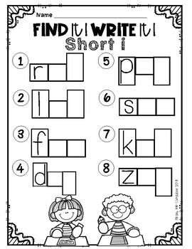Find it! Write it! / Scoot CVC Short i