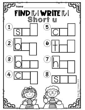 Find it! Write it! / Scoot CVC Short u