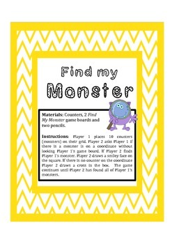 Find my Monster- Coordinates