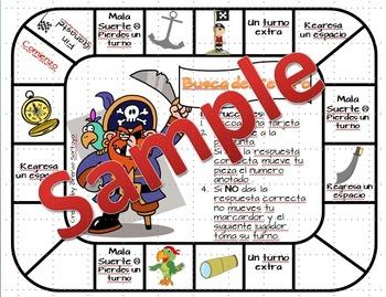 Find my Treasure/ Busca del Tesoro Map Skills Game - Spanish