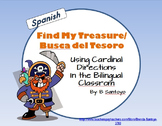Find my Treasure/ Busca del Tesoro Map Skills Game - Spanish