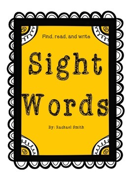 Find, read, and write Sight Words