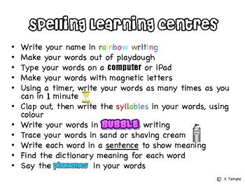 Spelling Learning Centres