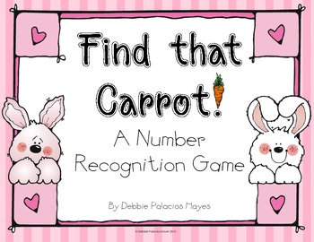 """Numbers: """"Find that Carrot!"""" Number Recognition Game"""
