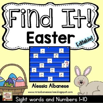 Find It! Easter - {Numbers 1-10 and Sight Words}