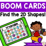 Find the 2D Flat Shapes Boom Cards Distance Learning
