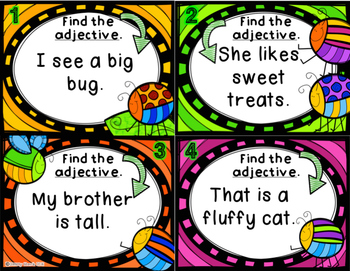 Find the Adjectives Task Cards