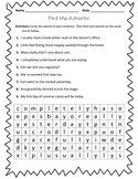 Adverb Worksheet : Find the Adverbs