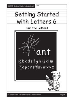 Find the Alphabet Letter (29 pages)