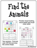 Find the Animals - Visual Tracking, Visual Spatial and Visual Motor Activity