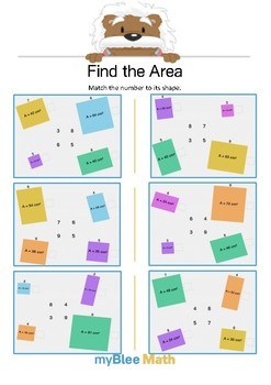 Find the Area 2.1 - Match the number - Gr 4