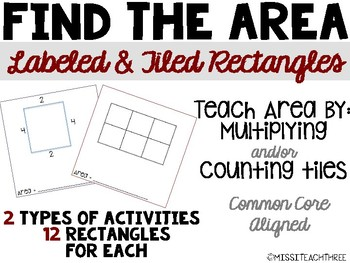 Find the Area - Count unit squares & use multiplication