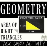 Area of Right Triangles Task Card Activity