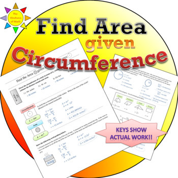 Find the Area given the Circumference