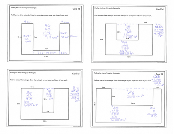 Find the Area of Irregular Rectangles: Task Cards