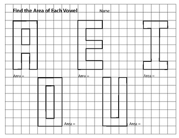 Area & Perimeter of the Letters