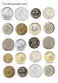 Find the Australian Coins Worksheet
