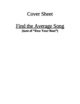"""Find the Average"" song"