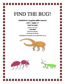 Sight word: find FIND THE BUG!