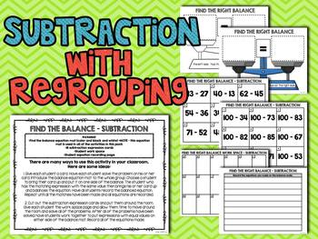 Find the Balance! Equations and Inequalities Centers